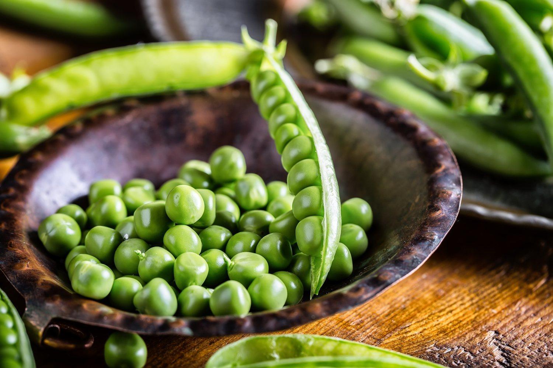 Los guisantes son una de las verduras más ricas en aminoácidos debido a su alto contenido en proteinas.