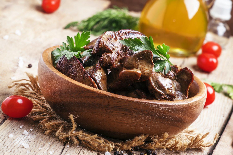 El hígado es uno de los alimentos más ricos en vitamina B12.