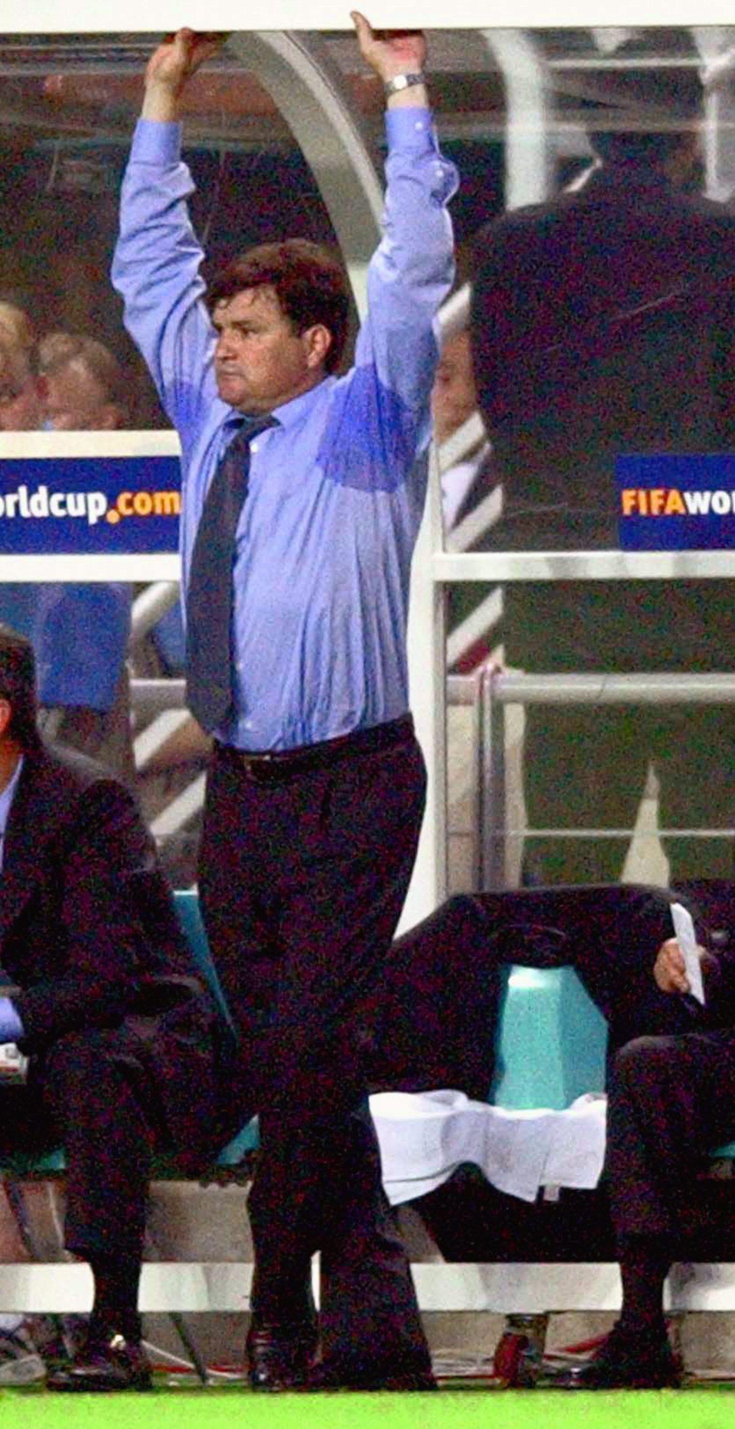 Jose Antonio Camacho, durante la debacle española ante Corea