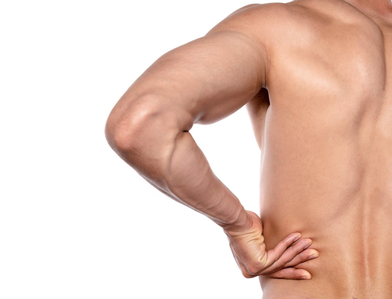 La espalda es una de las zonas sensibles del cuerpo.
