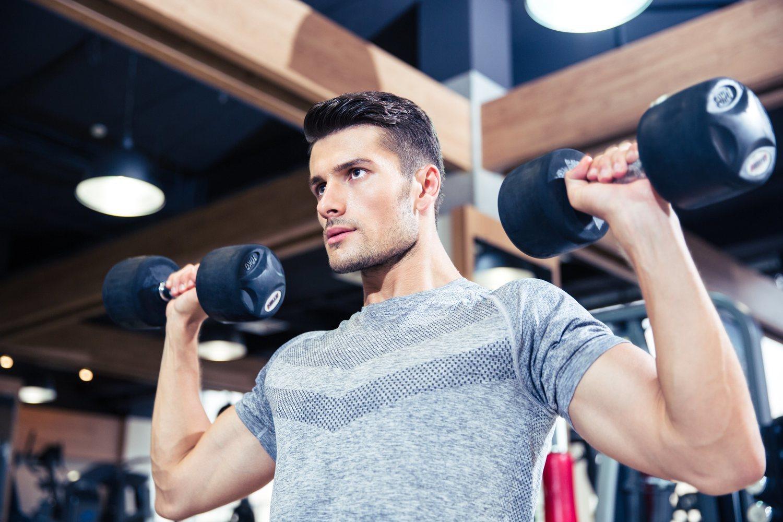 Las mancuernas son uno de los tipos de pesas que mayor activación muscular producen.