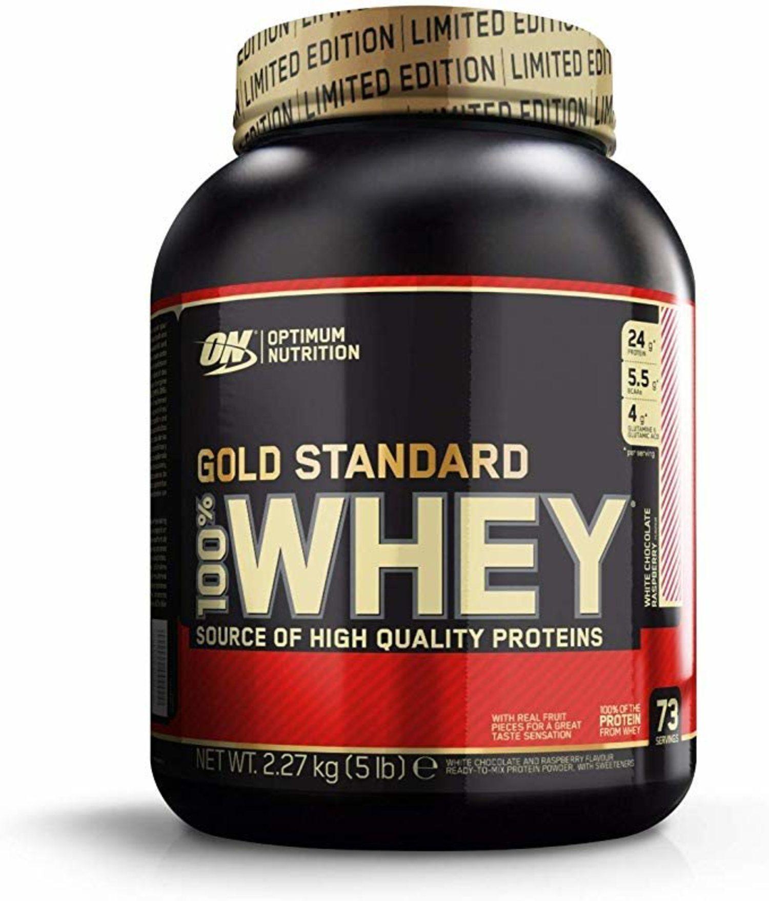 Chocolate blanco, fresa, mantequilla de cacahuete o caramelo son algunos de los sabores de la proteína de Optimum Nutrition.