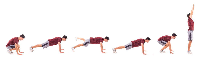 Los burpees son uno de los ejercicios más completos para lograr un abdomen plano.