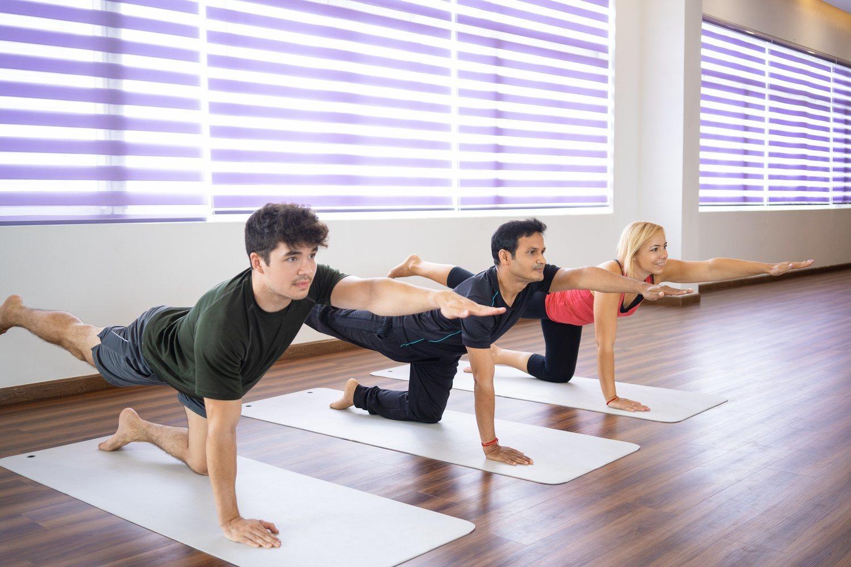 El bird-dog es una postura de yoga que permite entrenar multitud de músculos del torso y las extremidades.