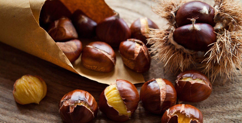 Las castañas tienen la mitad de calorías que el resto de frutos secos.